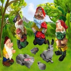Скульптуры декоративные, садовые фигуры, садовые