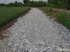 Дробленый бетон (вторичный щебень 0-80) с доставкой нашими самосвалами 25-30 тон.
