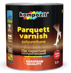 Лак паркетный полиуретановый Kompozit® глянцевый и шелковисто-матовый. Лаки для дерева