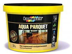 Лак паркетный AQUA PARQUET,  водоразбавляемый