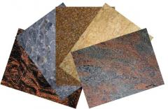 Products from granite of different forms and