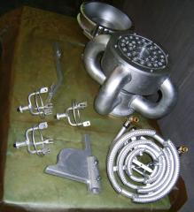System of air cooling of casting molds