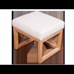 Otomano pequeño dormitorio sólido roble, ANNA