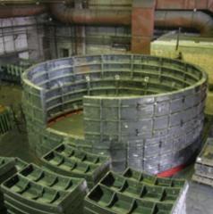 Кольца тюбинговые чугунные тип 8,0 - 50 высотой 1,5м марка чугуна СЧ 25 для строительства метрополитенов и шахт, пр-во Днепротяжмаш, Украина