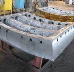 Кольца тюбинговые чугунные тип 7,0-120-1 высотой 1,5м марка чугуна ВЧ 45 для строительства метрополитенов и шахт, пр-во Днепротяжмаш, Украина