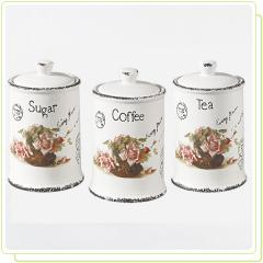 "Set tanks ' postcard-rose ""3 jars"