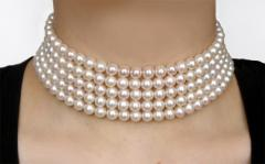 Five-row necklace collar - Diana