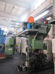 The equipment for hot volume stamping and