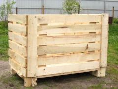 Деревянные контейнеры для хранения плодоовощной