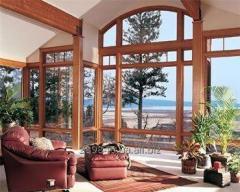 Вікна з євробрусу. Двері вхідні й міжкімнатні з