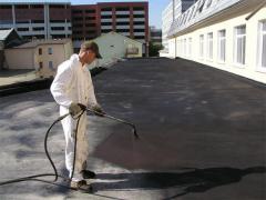 Гідроізоляція плоского даху пінополіуретаном