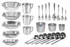 Aluminum ware for fishermen and tourists.