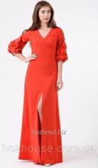 Вечернее платье в пол с объемными рукавами Rica Mare