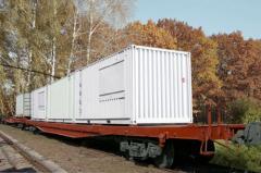 Вагон-платформа модель 13-7031Э2
