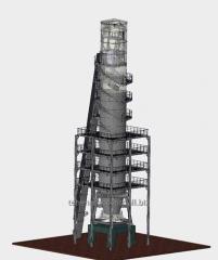 Furnace shaft lime-gas type IPN