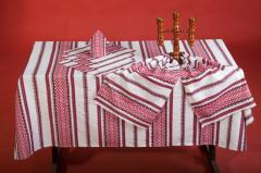 The cloths embroidered Festive Svadkova_NAB_red