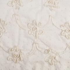 Батист с вышивкой, ткань блузочная цвет