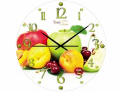 Часы настенные стекло, фрукты