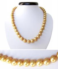 Necklace from golden Pearls Southern Moray