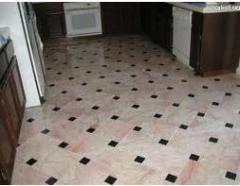 Tile facing marble: polishing, polishing