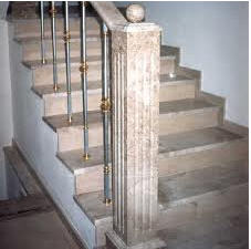 Steps from marble and granite: polishing,