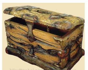 Сундук под старину, сундук из дерева, сундук из