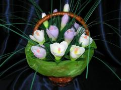 Gifts by March 8. Candles. Bouquets from paraffin