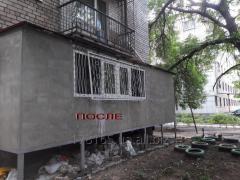 Балкон на первом єтаже