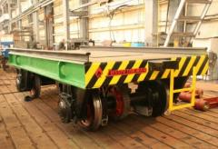 Передаточная тележка г/п 160 тн для транспортирования слябов между пролетами склада, сталеплавильное оборудование, пр-во Днепротяжмаш, Украина