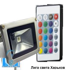 Cветодиодный прожектор 10W RGB с пультом Lemanso LMP9-11