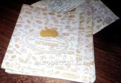 Пакет бумажный 170х180х50 крафт белый с...