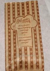 Пакет бумажный для Французского хот-дога 170х70х40 крафт бурый