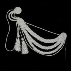 Аксельбант белый