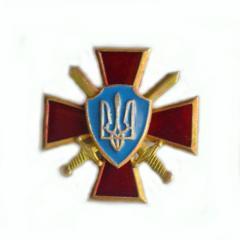 Герб Украины на георгиевском кресте с саблями