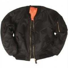 Куртка летная MA1 нейлон черная