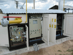 Fuel gas feeding control system to natural gas
