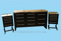 A set of furniture for the medical hall...