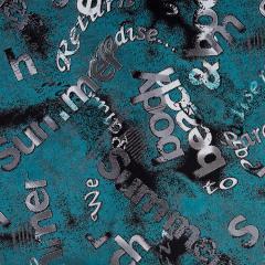 Вельвет буквы, ткань костюмная с рисунком