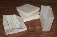 Пакет бумажный саше 100х100х40 крафт белый