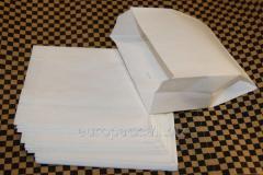 Пакет саше бумажный 120х120х50 крафт белый жиростойкий