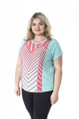 Красивая , легкая , летняя футболка для пышных дам Батик арт. 531Б-1