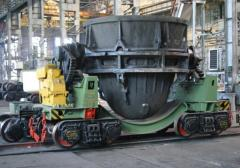 The slag carrier is non-self-propelled rail