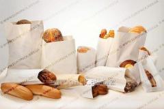 Бумажный пакет для хлеба 560х90х40 крафт белый