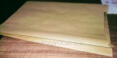 Бумажный пакет для хлеба 400х250х80 крафт бурый вторичный
