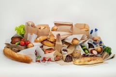 Бумажный пакет для хлеба 560х100х40 крафт бурый вторичный