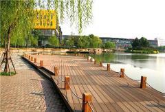 The Deking is garden, a deck board, Ukraine,