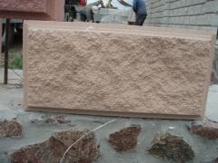 French stone (hollow concrete block)