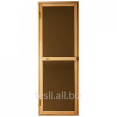 Sauna deur, houten deur Bravo-satijn, productie Tesli