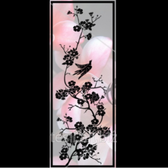 Glass door Sakura from Ukrainian manufacturer Tesli