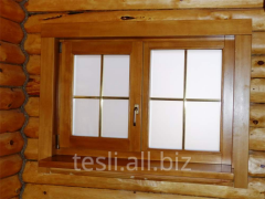 Wooden Windows for saunas Tesli